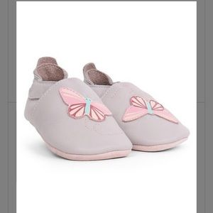 Bobux Lilac Butterfly Soft Sole Booties